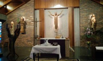 Altar un día de Viernes Santo